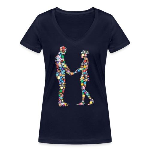 Pärchen bunt frei png - Frauen Bio-T-Shirt mit V-Ausschnitt von Stanley & Stella