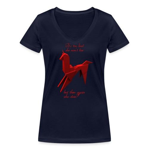 UnicornioBR2 - Camiseta ecológica mujer con cuello de pico de Stanley & Stella