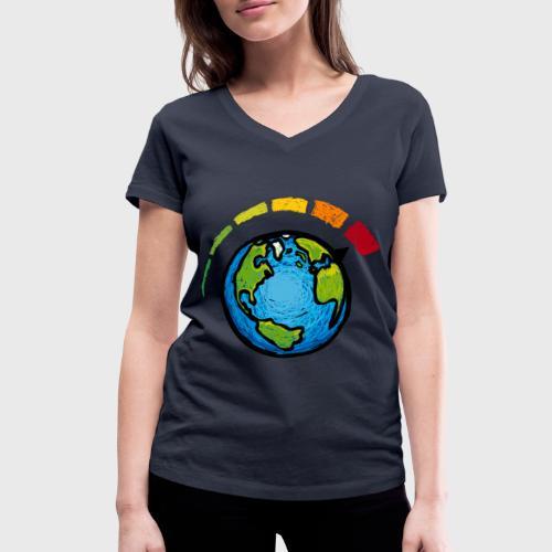 Urgence Climatique - T-shirt bio col V Stanley & Stella Femme