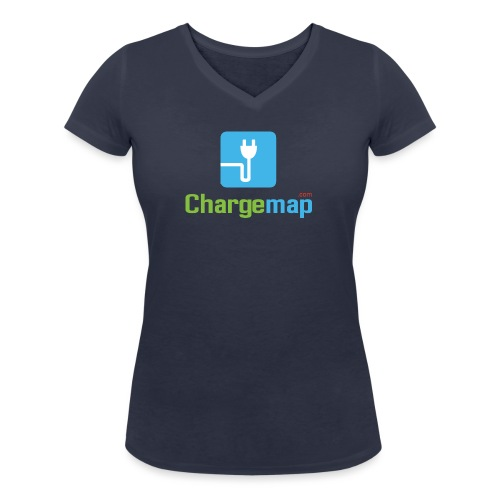 Logo ChargeMap - Women's Organic V-Neck T-Shirt by Stanley & Stella