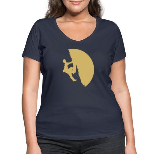 Tufa Kletterer gelb - Frauen Bio-T-Shirt mit V-Ausschnitt von Stanley & Stella