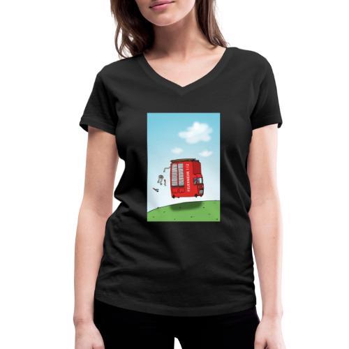 Feuerwehrwagen - Frauen Bio-T-Shirt mit V-Ausschnitt von Stanley & Stella