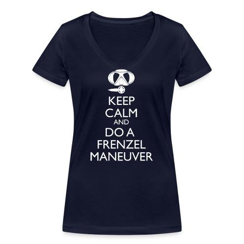 Keep calm and Frenzel - Frauen Bio-T-Shirt mit V-Ausschnitt von Stanley & Stella
