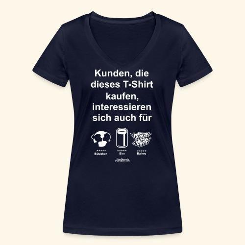 Karneval T Shirt Düsseldorf   Bier, Bützchen - Frauen Bio-T-Shirt mit V-Ausschnitt von Stanley & Stella