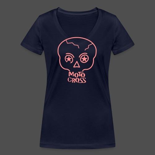 MX Skull No.5 - Ekologiczna koszulka damska z dekoltem w serek Stanley & Stella