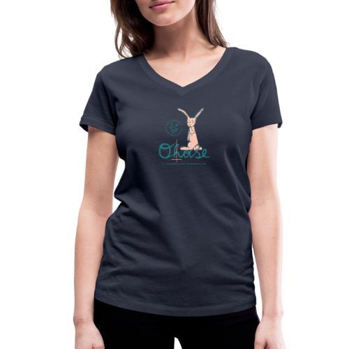 Der O(h)ase - Frauen Bio-T-Shirt mit V-Ausschnitt von Stanley & Stella