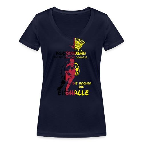 Eishockeyprinzessin - Frauen Bio-T-Shirt mit V-Ausschnitt von Stanley & Stella
