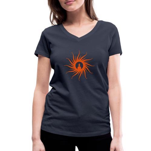 Buddha Sun - Frauen Bio-T-Shirt mit V-Ausschnitt von Stanley & Stella