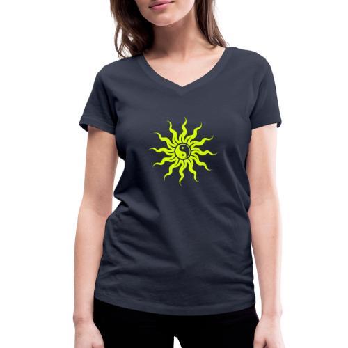 Yin Yang Sonne - Frauen Bio-T-Shirt mit V-Ausschnitt von Stanley & Stella