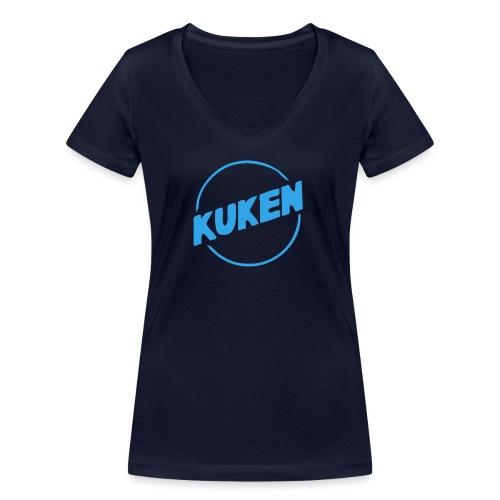 Kuken - Ekologisk T-shirt med V-ringning dam från Stanley & Stella