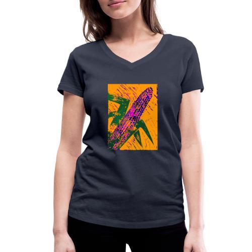 Mais violett - Frauen Bio-T-Shirt mit V-Ausschnitt von Stanley & Stella