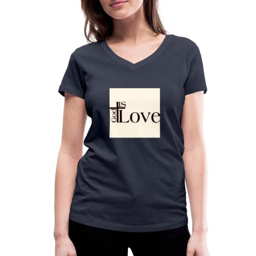 Good love - Women's Organic V-Neck T-Shirt by Stanley & Stella