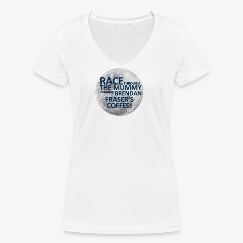 Race Through The Mummy - Women's Organic V-Neck T-Shirt by Stanley & Stella