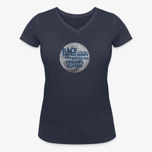 Race Through The Mummy - Women's Organic V-Neck T-Shirt by Stanley & Stella