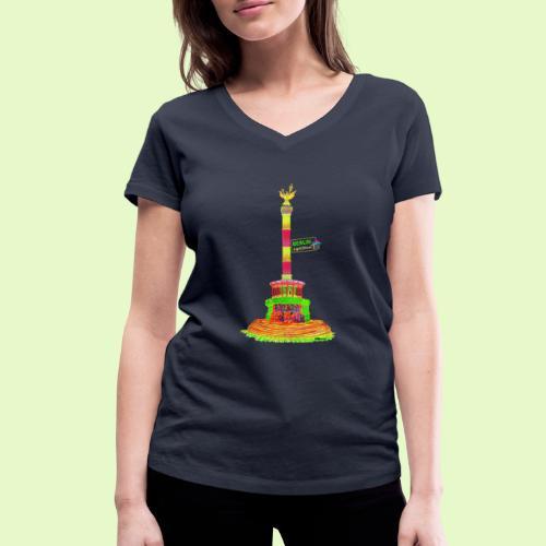DIE Siegessäule / BerlinLightShow / PopArt - Frauen Bio-T-Shirt mit V-Ausschnitt von Stanley & Stella