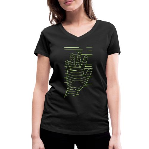 EigenHand gruen - Frauen Bio-T-Shirt mit V-Ausschnitt von Stanley & Stella