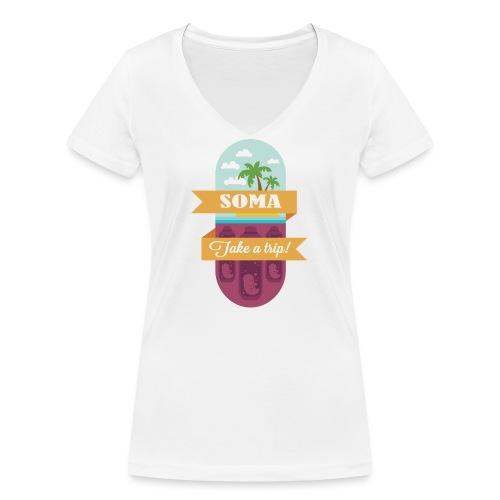 Soma - Il mondo nuovo - Aldous Huxley - T-shirt ecologica da donna con scollo a V di Stanley & Stella