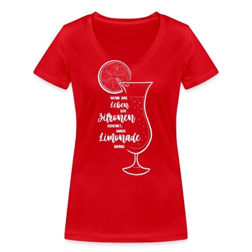 Wenn das Leben dir Zitronen schenkt - Illustration - Frauen Bio-T-Shirt mit V-Ausschnitt von Stanley & Stella