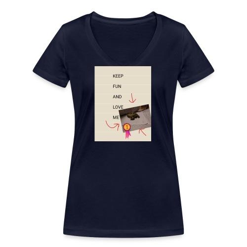 Keep fun and love me - Stanley & Stellan naisten v-aukkoinen luomu-T-paita
