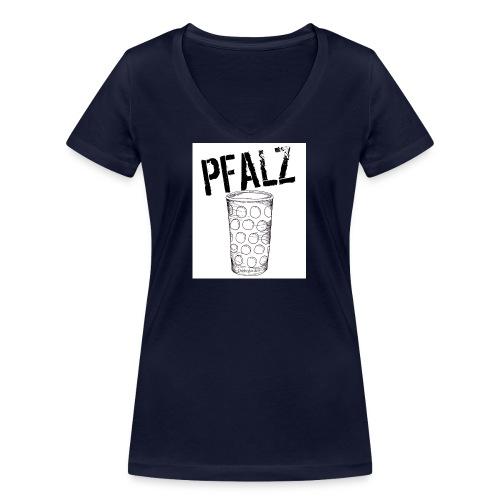 Pfalzshirt mit Dubbeglas, weiß - Frauen Bio-T-Shirt mit V-Ausschnitt von Stanley & Stella