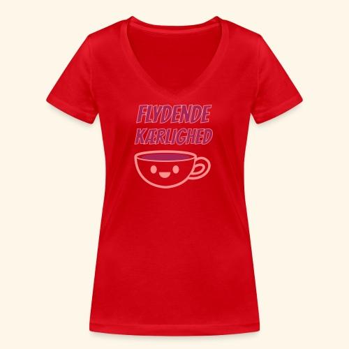 Flydende kærlighed - Økologisk Stanley & Stella T-shirt med V-udskæring til damer