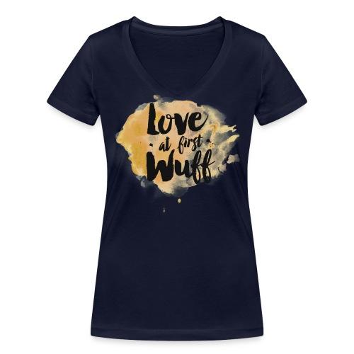 Love at first Wuff - Frauen Bio-T-Shirt mit V-Ausschnitt von Stanley & Stella
