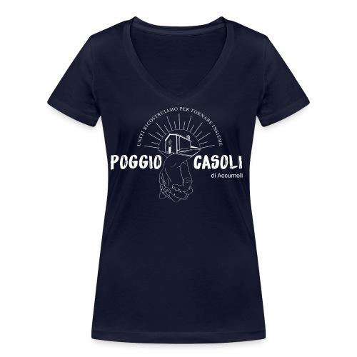 Poggio Casoli_Istituzionale_Bianco - T-shirt ecologica da donna con scollo a V di Stanley & Stella