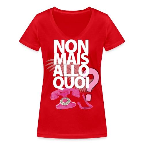 nonmaisallo2 png - T-shirt bio col V Stanley & Stella Femme