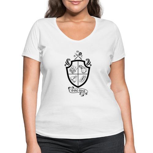 BBQ King - T-shirt ecologica da donna con scollo a V di Stanley & Stella