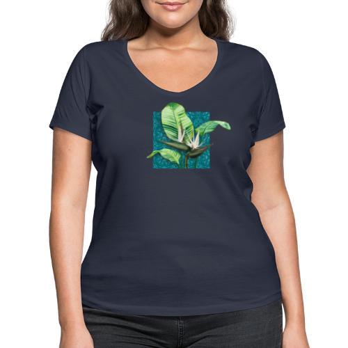 Boho Paradies Strelitzia nicolai Baum-Strelitzie - Frauen Bio-T-Shirt mit V-Ausschnitt von Stanley & Stella