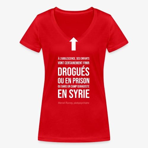 Futurs enfants drogués - T-shirt bio col V Stanley & Stella Femme