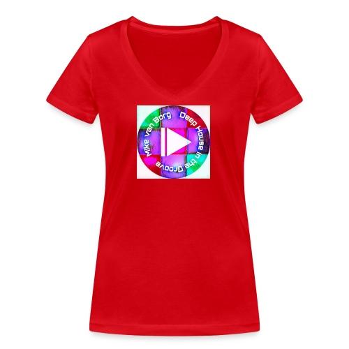 Mike van Borg Vinyl Style - Frauen Bio-T-Shirt mit V-Ausschnitt von Stanley & Stella