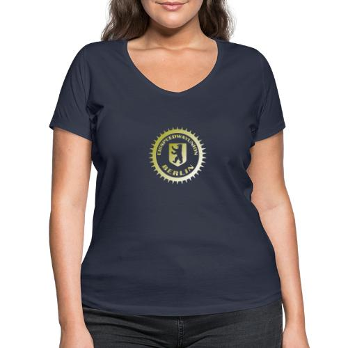 Logo klein ESU gold - Frauen Bio-T-Shirt mit V-Ausschnitt von Stanley & Stella
