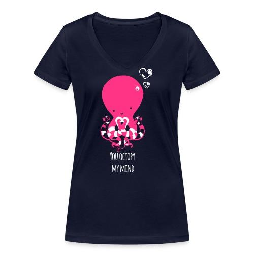 Tintenfisch Spruch dunkel - Frauen Bio-T-Shirt mit V-Ausschnitt von Stanley & Stella