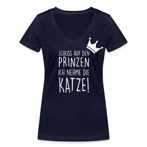 Vorschau: Scheiss auf den Prinzen - Frauen Bio-T-Shirt mit V-Ausschnitt von Stanley & Stella