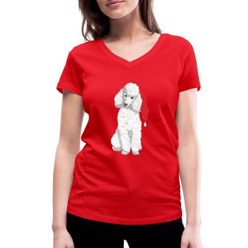 Poodle toy W - christmas - Økologisk Stanley & Stella T-shirt med V-udskæring til damer