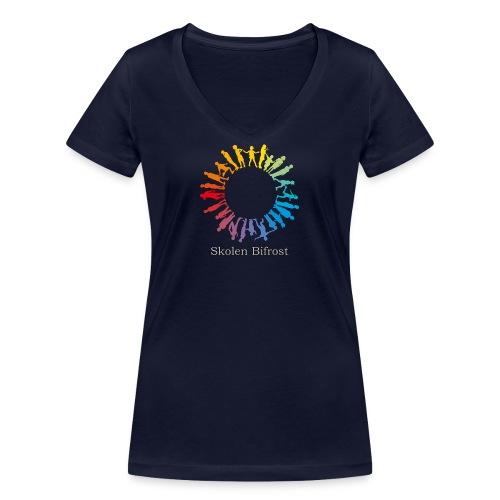 Skolen Bifrost - Økologisk Stanley & Stella T-shirt med V-udskæring til damer
