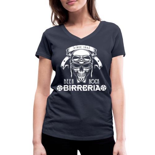 Classic Skull Beer & Rock - Frauen Bio-T-Shirt mit V-Ausschnitt von Stanley & Stella