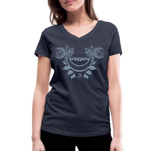 Moonlight Yoga Design Lotus Flower - Frauen Bio-T-Shirt mit V-Ausschnitt von Stanley & Stella