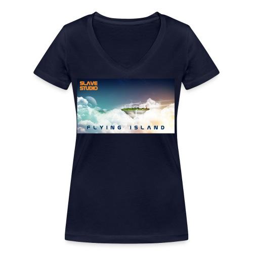 flying island - T-shirt ecologica da donna con scollo a V di Stanley & Stella