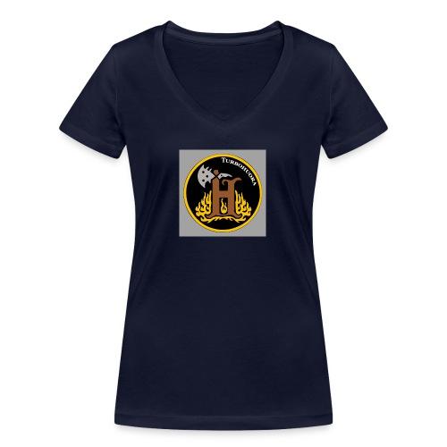 THbutton 32Srgb400 - Stanley & Stellan naisten v-aukkoinen luomu-T-paita