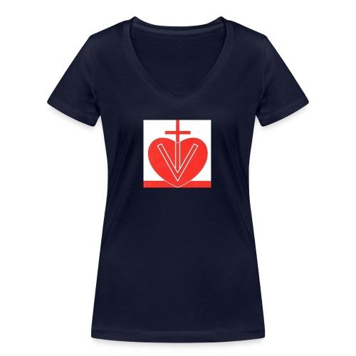 Visk stor - Ekologisk T-shirt med V-ringning dam från Stanley & Stella
