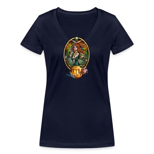 Battle for Legend : Mythrilisatrice - T-shirt bio col V Stanley & Stella Femme