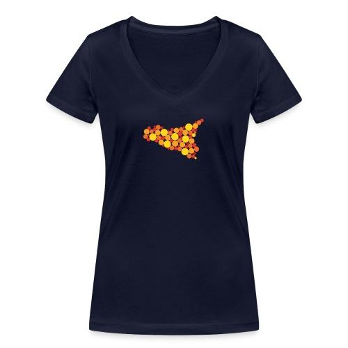 logo sicilia piccolo - T-shirt ecologica da donna con scollo a V di Stanley & Stella