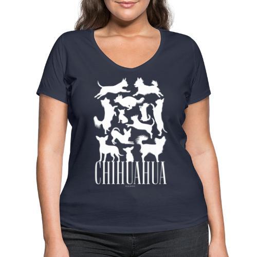 Chihuahua - Stanley & Stellan naisten v-aukkoinen luomu-T-paita
