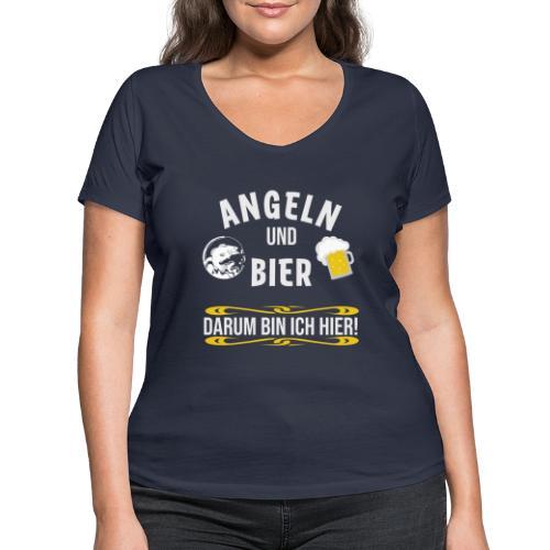 Angler angeln Sportfischer Fischer Angelhobbie Fun - Frauen Bio-T-Shirt mit V-Ausschnitt von Stanley & Stella