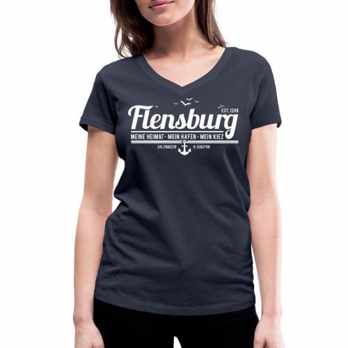 Flensburg - meine Heimat, mein Hafen, mein Kiez - Frauen Bio-T-Shirt mit V-Ausschnitt von Stanley & Stella