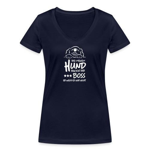 boss hund - Frauen Bio-T-Shirt mit V-Ausschnitt von Stanley & Stella