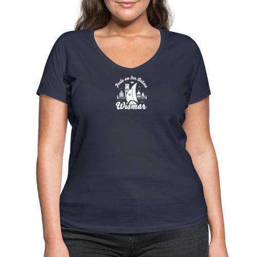 Wismar Perle an der Ostsee - Frauen Bio-T-Shirt mit V-Ausschnitt von Stanley & Stella