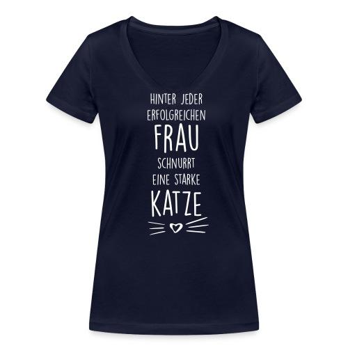 Vorschau: erfolgreiche frau - Frauen Bio-T-Shirt mit V-Ausschnitt von Stanley & Stella